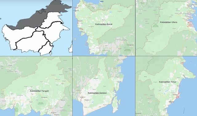 peta provinsi yang ada di pulau kalimantan