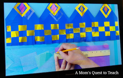 image from video lesson for making the crown with weaving
