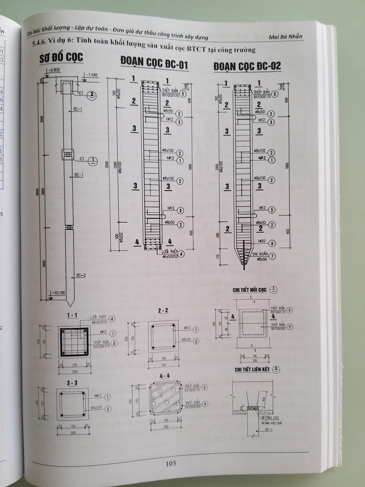 Sách đo bóc khối lượng dự toán (Cơ bản và chuyên sâu)