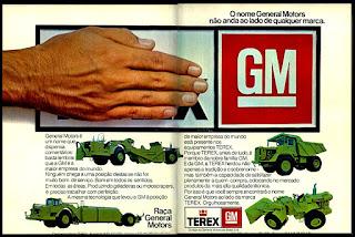 propaganda  equipamentos Terex - GM - 1977; Terex; GM anos 70; reclame de carros anos 70. brazilian advertising cars in the 70. os anos 70. história da década de 70; Brazil in the 70s; propaganda carros anos 70; Oswaldo Hernandez;