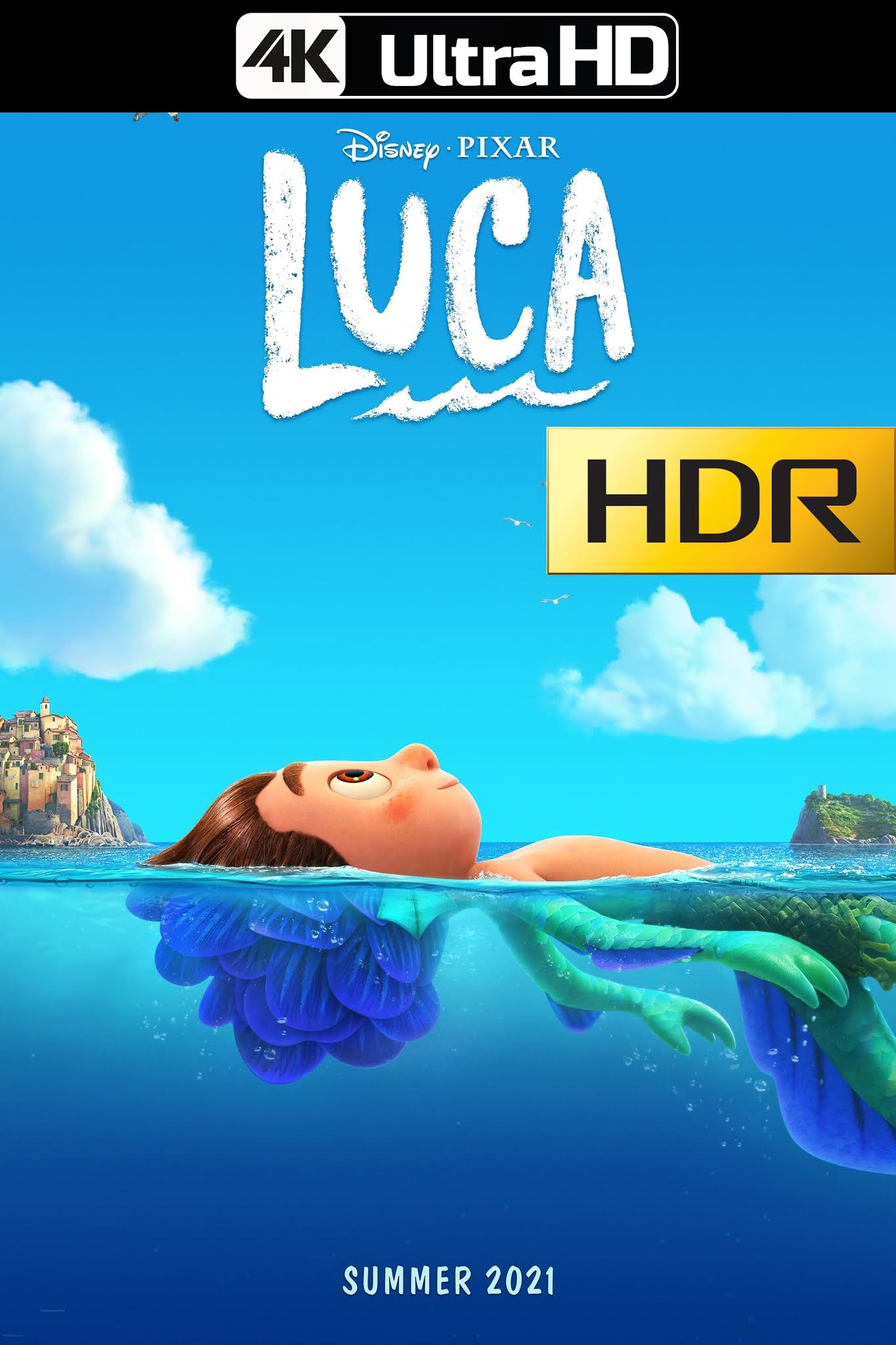 Luca (2021) D+ Web-DL 4K UHD HDR Latino