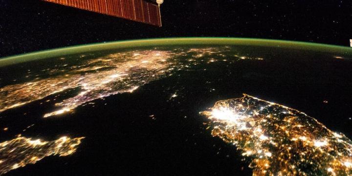 coreia vista do espaço