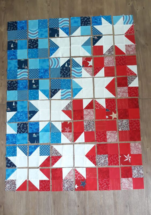 Star Spangled Baby Quilt - Free Pattern & Tutorial