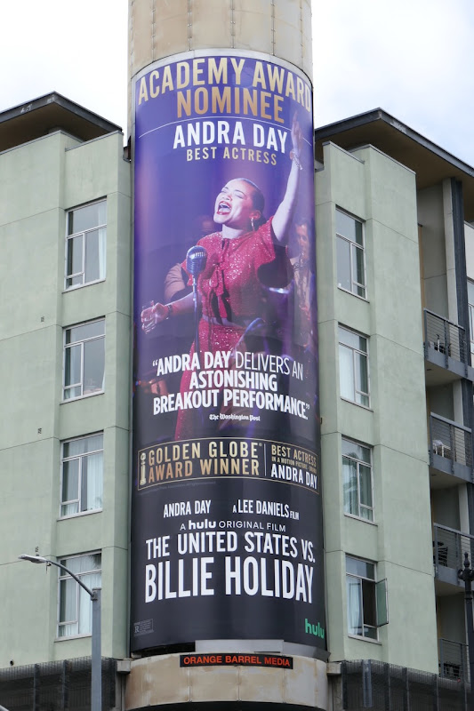 United States vs Billie Holiday Academy Award nominee billboard