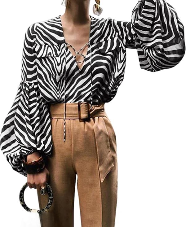 camicia stampa zebrata