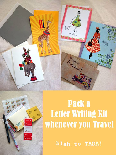 Pack A Letter Writing Kit whenever you travel