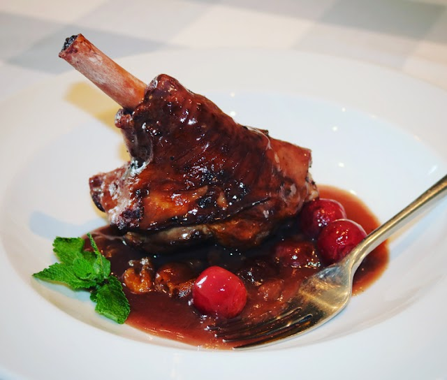 Jerte Picota Cherry Glazed Lamb Shanks
