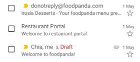 Email foodpanda