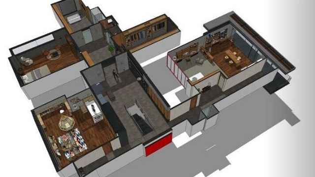konsep desain rumah modern minimalis parasite