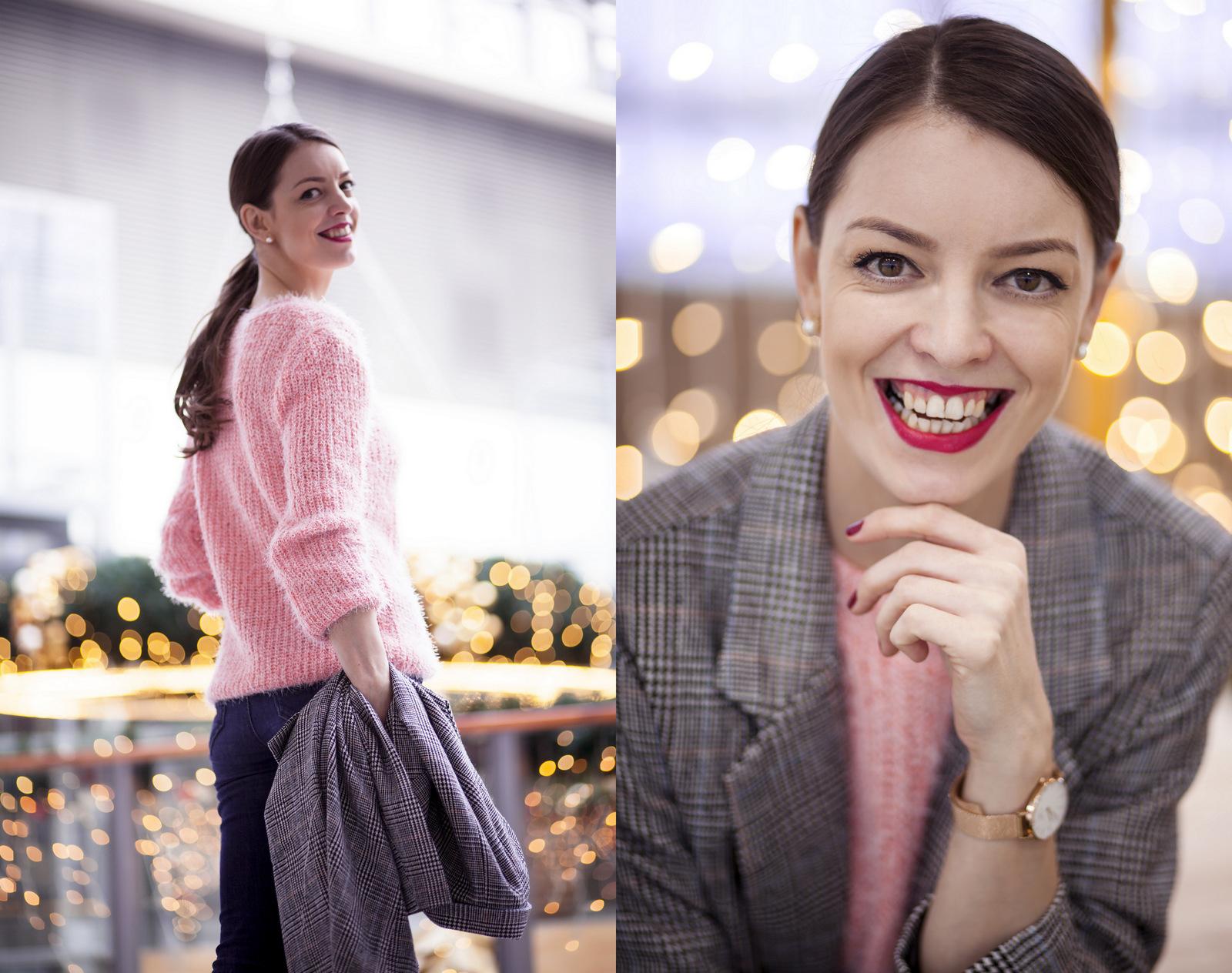 d7a7712a66f7 ružový sveter a moje cestovateľské plány    pink fluffy sweater