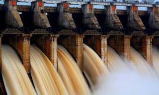 फुल लोड पर चलाई जा रही है बरगी बांध की टरबाइन लाखों यूनिट बिजली का उत्पादन