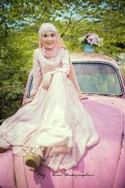 Desain gaun pengantin muslimah murah Terbaru