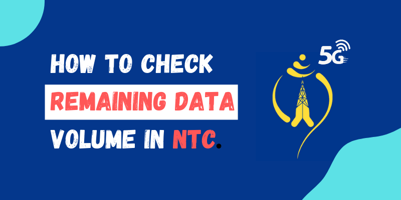 How to check the remaining Data Volume in NTC Number?