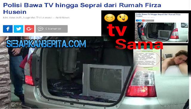 Polisi Sita Sprei dan Televisi Firza Husein, Netizen Malah Fokus ke Foto Ini