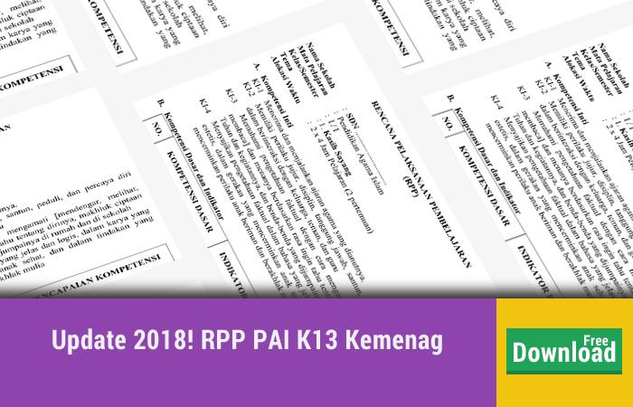 RPP PAI dan Budi Pekerti Semester 2 KEMENAG
