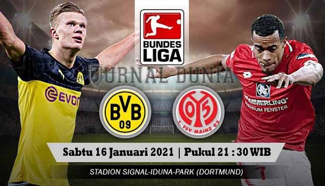 Prediksi Borussia Dortmund vs Mainz 05, Sabtu 16 Januari 2021 Pukul 21.30 WIB @Mola TV