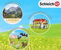 Logo ''Vinci Livigno con Schleich'': in palio 3 weekend a Livigno, 42 fattorie e 1 set animali Schleich