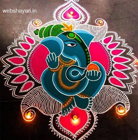 Ganesh Rangoli Designs Images