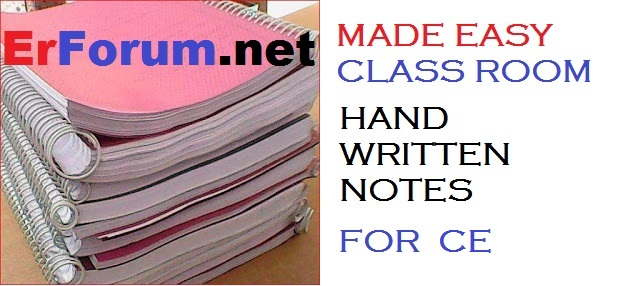 Made Easy Hand Written Notes of CE (Civil) for GATE, IES