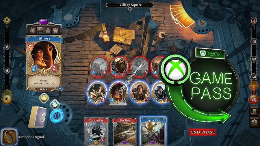xbox game pass 2020 lord of the rings adventure card game fantasy flight interactive asmodee digital pc