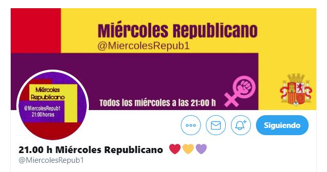 La cuenta @miercolesrepub1 cerrada por Twitter vuelve a la actividad