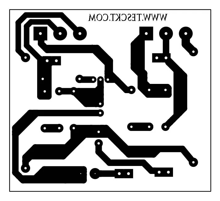 100 watt mono amplifier PCB