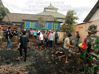 Pasca Kebakaran, Ini Yang Dilakukan Koramil Moyo Hulu Sumbawa