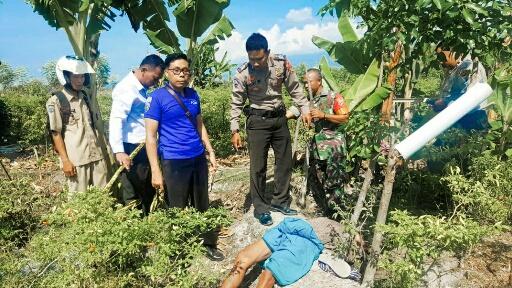 Sosok Mayat Laki-laki Ditemukan di Pematang Sawah Desa Pringgabaya