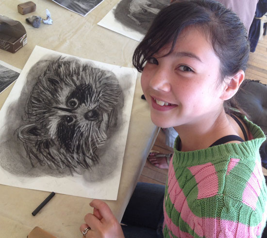 Charcoal art - Atascadero Art Classes - Drawing on History
