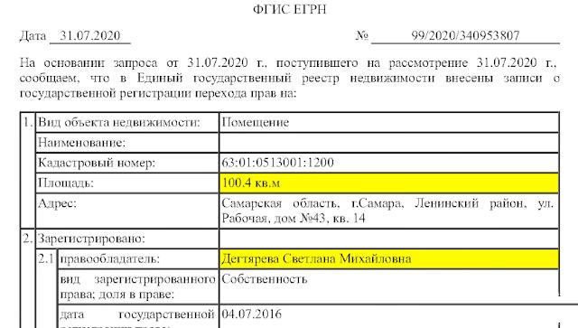 в 2016 г. они купили квартиру 100 кв. м. в Самаре – в историческом квартале. Стоимость жилья – 8 млн руб. минимум