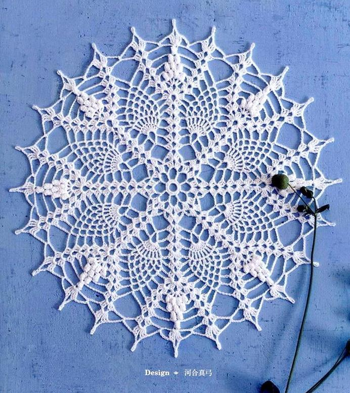Pineapple Lace - Crochet Doily - Easy Pattern