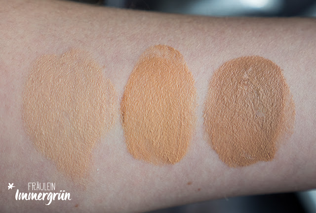 Alva BB Creme Light Beige, Medium Brown, Dark Brown Swatches