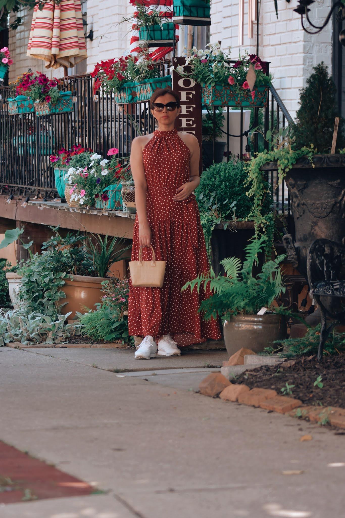 Como Combinar Un Vestido Largo De Polka Dots-como combinar vestidos-como crear outfits desde cero-mariestilo-