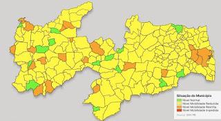7ª avaliação do Plano Novo Normal aponta 187 municípios em bandeira amarela