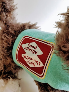 food allergy support stuffed dog