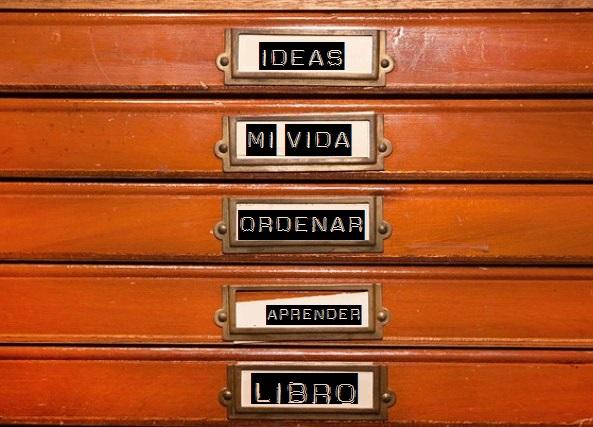 organizar, colocar ideas, ideas útiles, libros