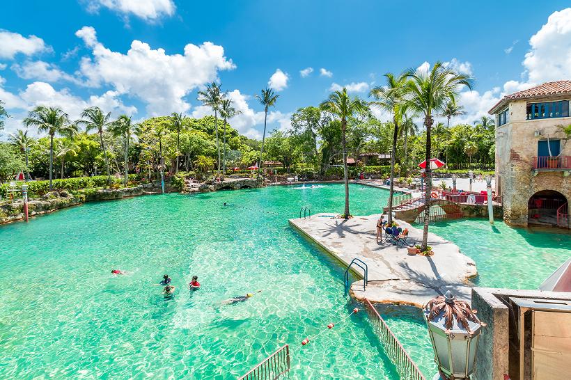 Venetian Pool Em Miami A Maior Piscina Artificial Da