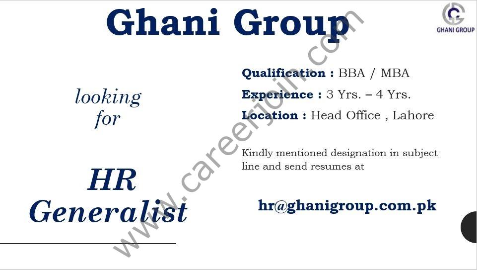 hr@ghanigroup.com.pk - Ghani Group Jobs 2021 in Pakistan