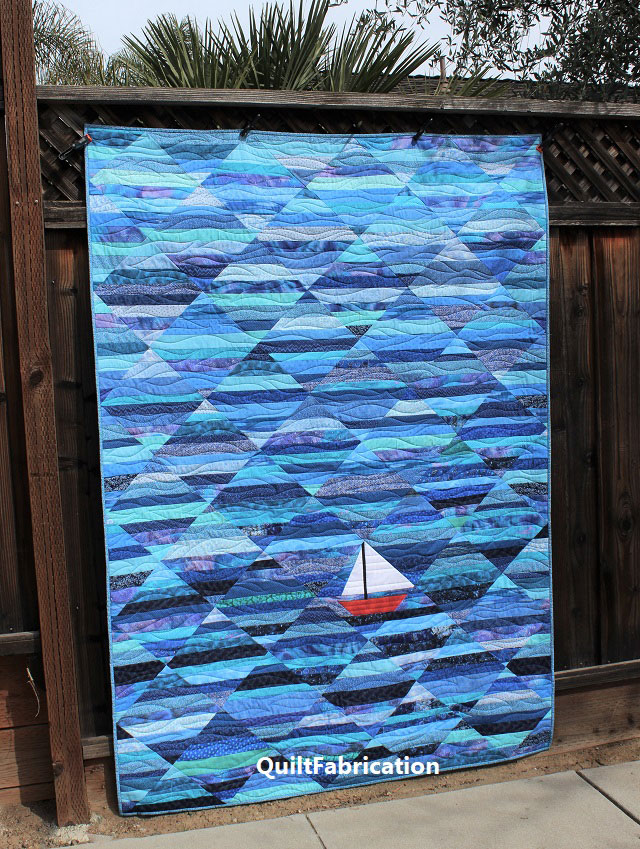 Seafarer quilt pattern from QuiltFabrication