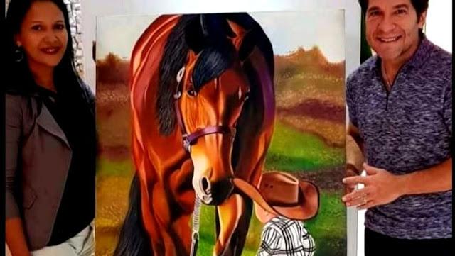 RECONHECIMENTO: Quadro de artista plástica de Nova Mamoré é adquirido por Daniel