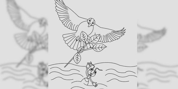 "Cerita fabel ""Semut Tak Tahu Terima Kasih"" dialihbahasakan dan diceritakan ulang oleh ceritanakecil.com dari fabel Aesop berjudul ""The Ant and the Dove""."