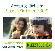Center Parcs Herbst Winter Angebot