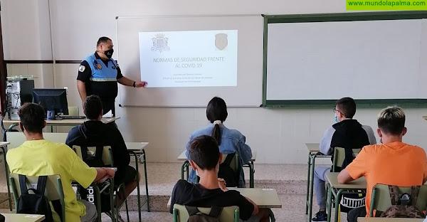 La Policía Local de Los Llanos de Aridane  imparte talleres sobre protocolos Covid-19 a estudiantes de Secundaria