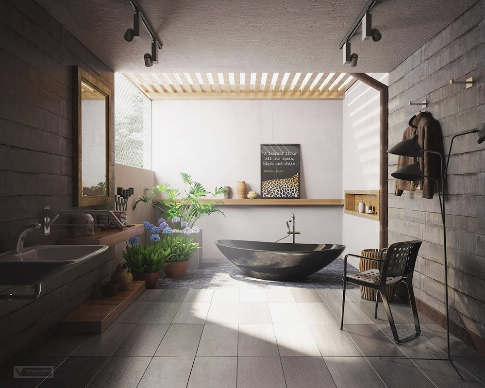 glossy-black-bathtub