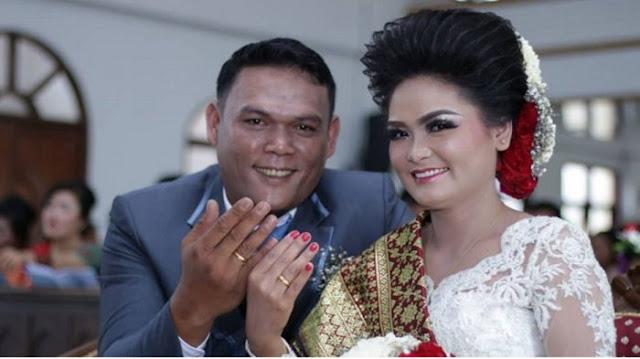 Margomgom dan Dortaida menikah di HKBP Tambunan, Balige, Tobasa (INSTAGRAM)
