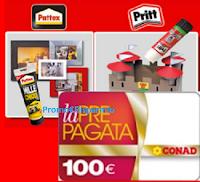 Logo La Famiglia Incolla Tutto ''Con Henkel vinci buoni spesa Conad da 100€''