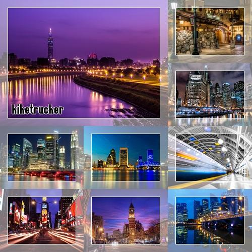 Wallpapers ciudades en la noche - Pack 3
