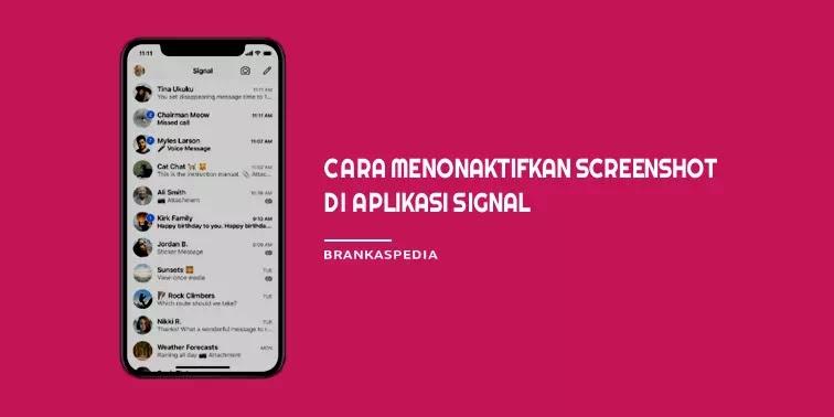 Cara Menonaktifkan Screenshot di Signal Private Messenger