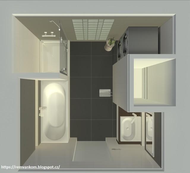 Новая планировка ванной комнаты квартиры в панельном доме
