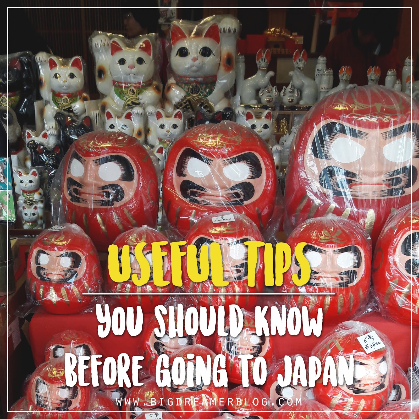 Useful Japan Travel Tips | www.bigdreamerblog.com